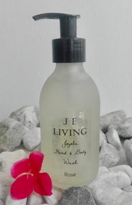 JE Hand and Body Wash Glass 200ml - Rose