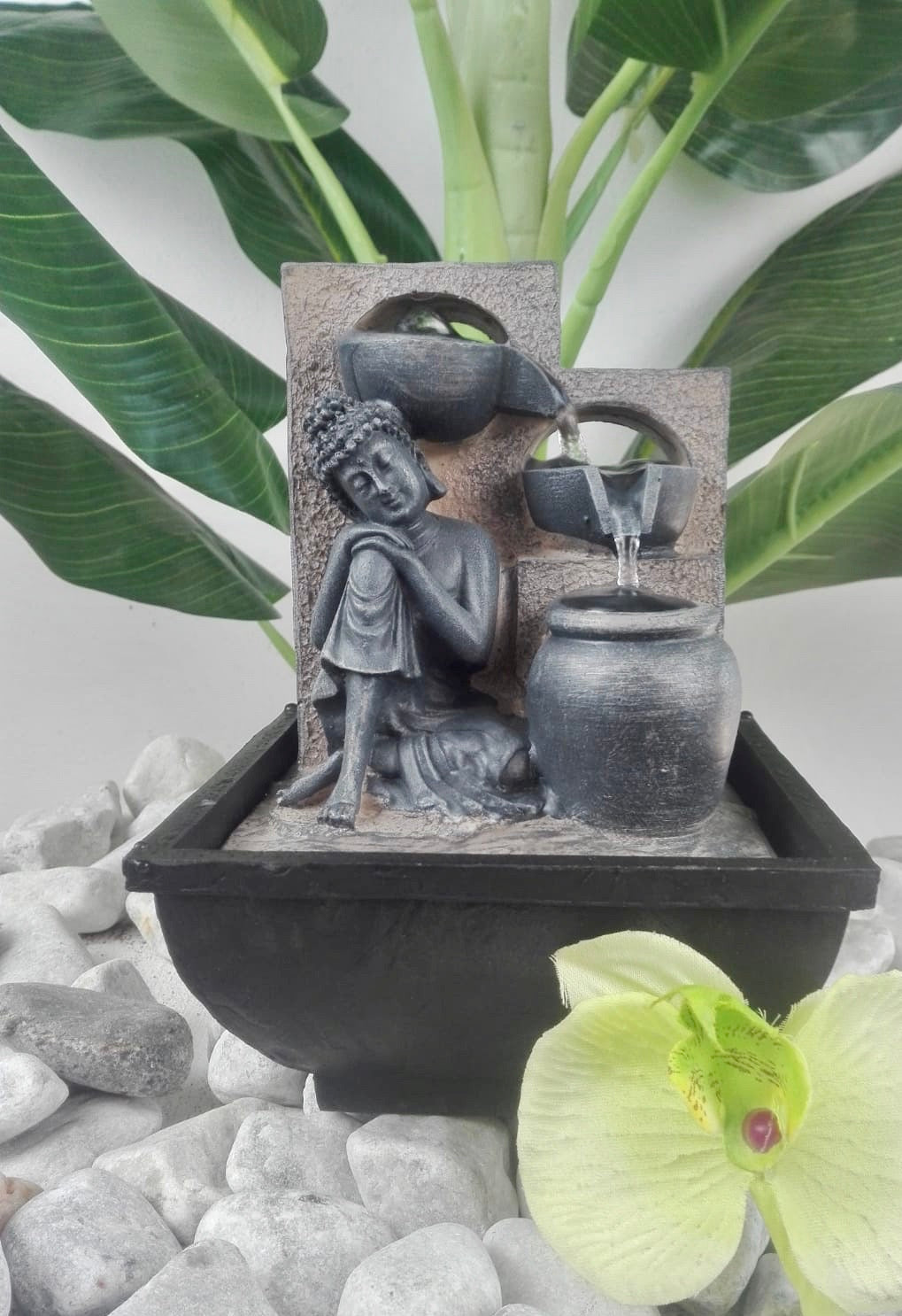 Resting Buddha Water Feature 18cm