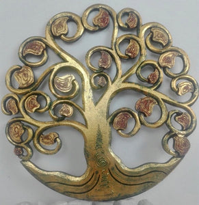 WOODEN CARVED TREE OF LIFE WALL HANGING