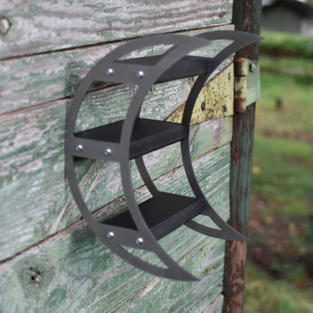 On The Outdoor, Stainless Steel Crescent Moon Charging Shelves...