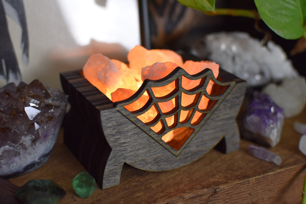 Spider Web Salt Lamp