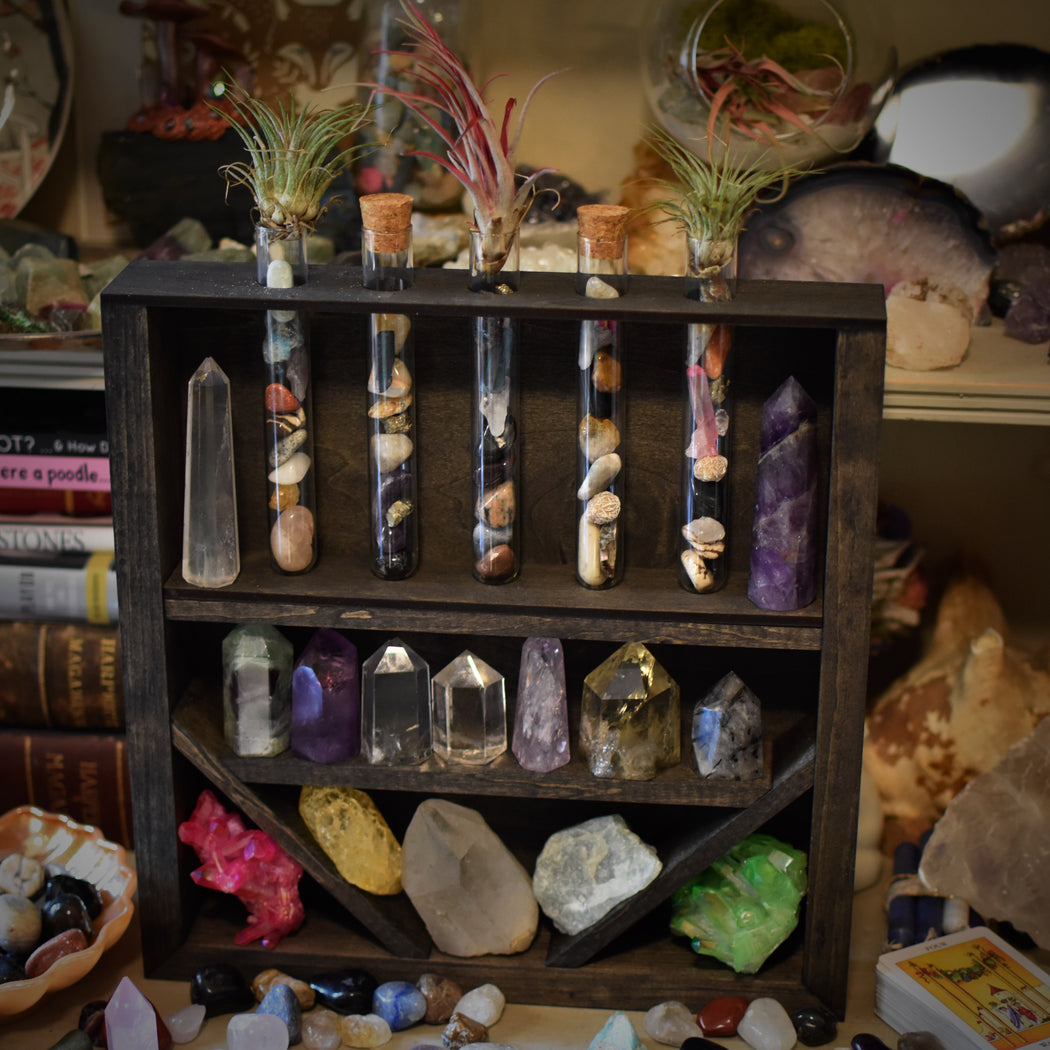 Apothecary Cabinet - With Glass Vials