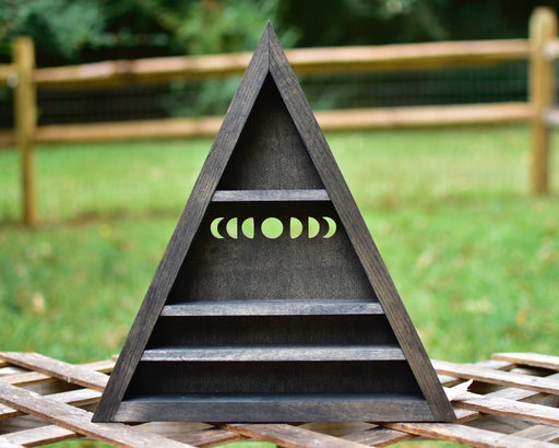 Moon Phases Triangle Crystal Display Shelf