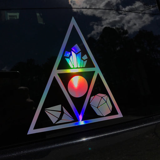 Holographic Triangle Shelf Decal