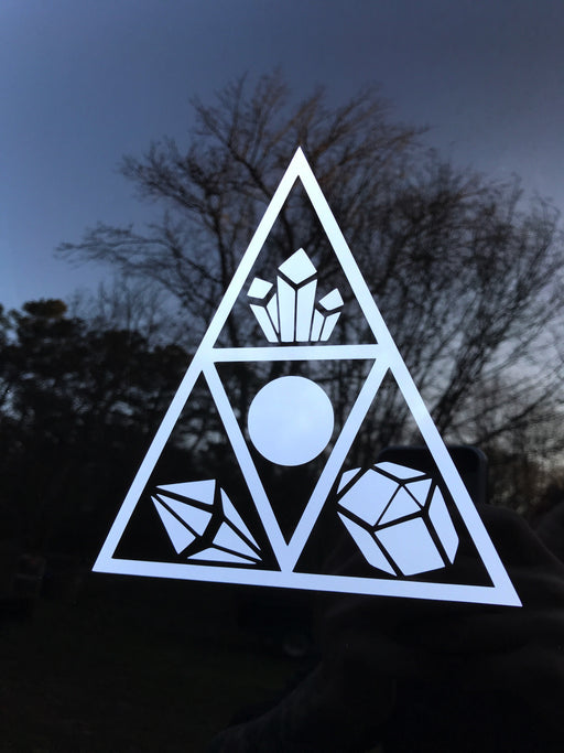 White Triangle Shelf Decal