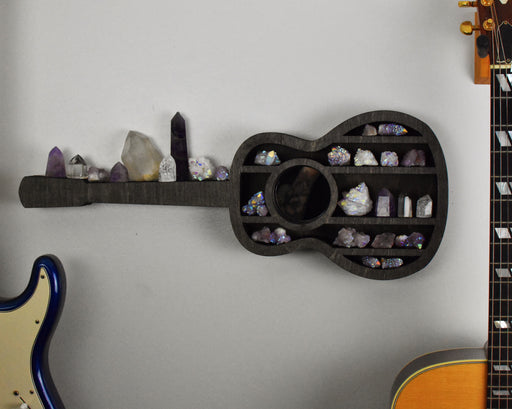 Guitar-Shaped Shelf and Wood Carving