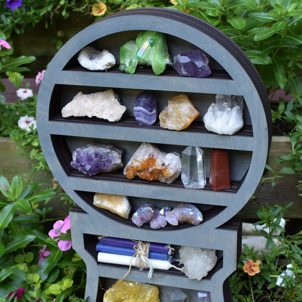 Grey Crystal Ball Shelf
