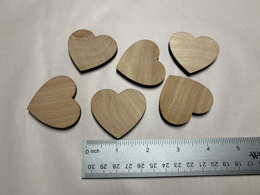 "Unfinished 6 Piece 2"" Heart Shaped Medallions - J. Drew + You"