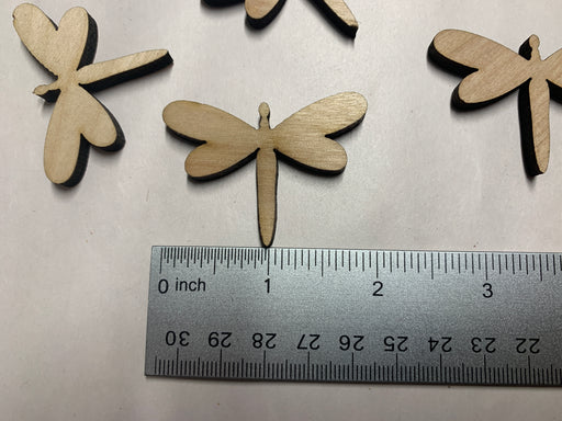 "Unfinished 6 Piece 2"" Dragonfly Shaped Medallions - J. Drew + You"