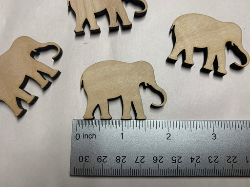 "Unfinished 6 Piece 2"" Elephant Shaped Medallions - J. Drew + You"