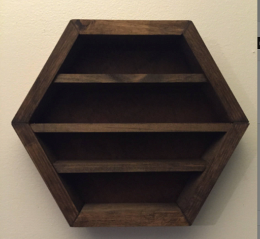 Brown Hanging Hexagon Display Box