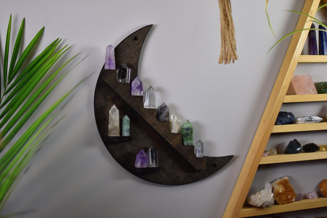 Brown Crescent Moon Stair Shelf