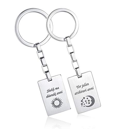 His and Hers Couple Keychain