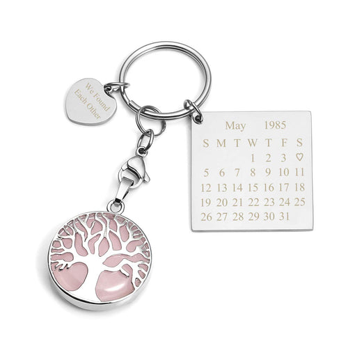 Personalised Crystal Stone Keychain