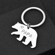 Load image into Gallery viewer, Father's Day Papa Bear Steel Keychain