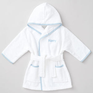 Personalised Blue Gingham Robe