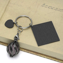 Load image into Gallery viewer, Personalised Lava Stone Pendant Keychain