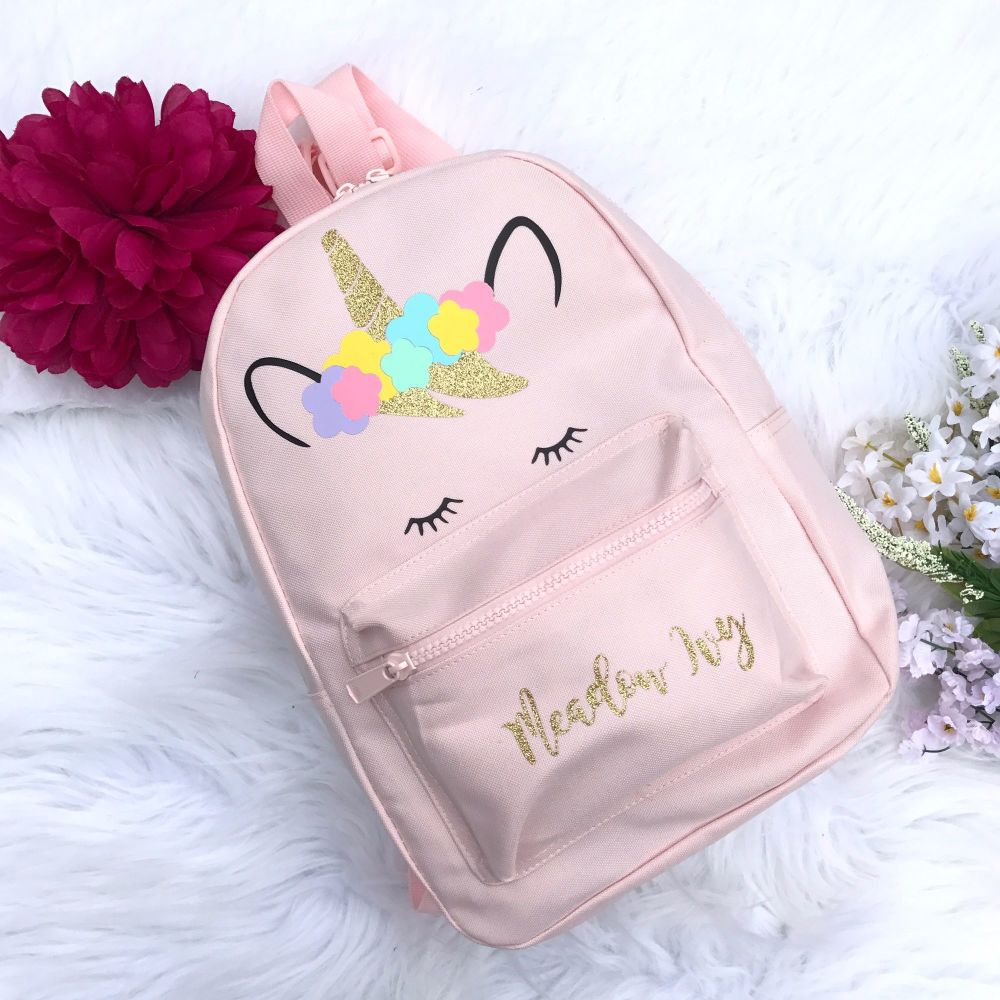 Personalised Unicorn Backpack rucksack