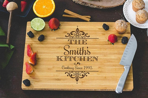 Personalised Engraved Wooden chopping Board