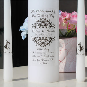 Personalised Candle vinyl decal