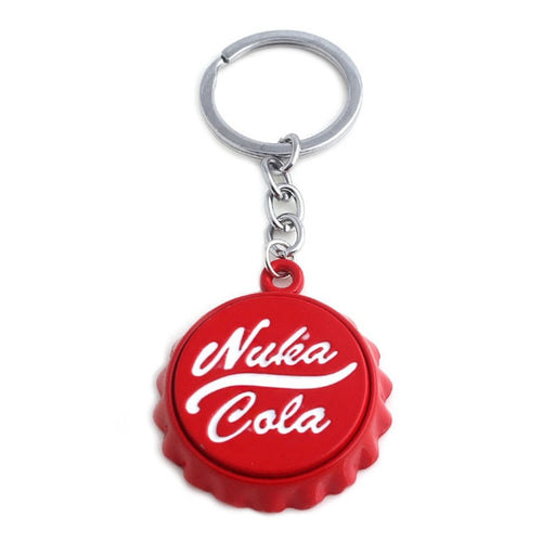 Cola red Bottle Cap Keychain