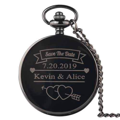 Personalised Pocket Watch Necklace