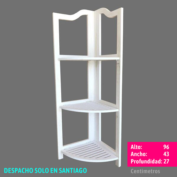 ESQUINERO 3 DIVISIONES COLOR BLANCO