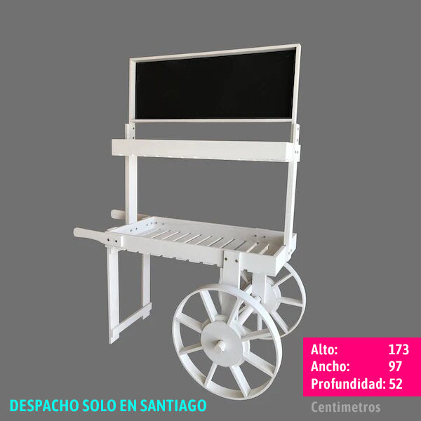 CARRO CANDY BAR MULTIUSO MADERA BLANCO