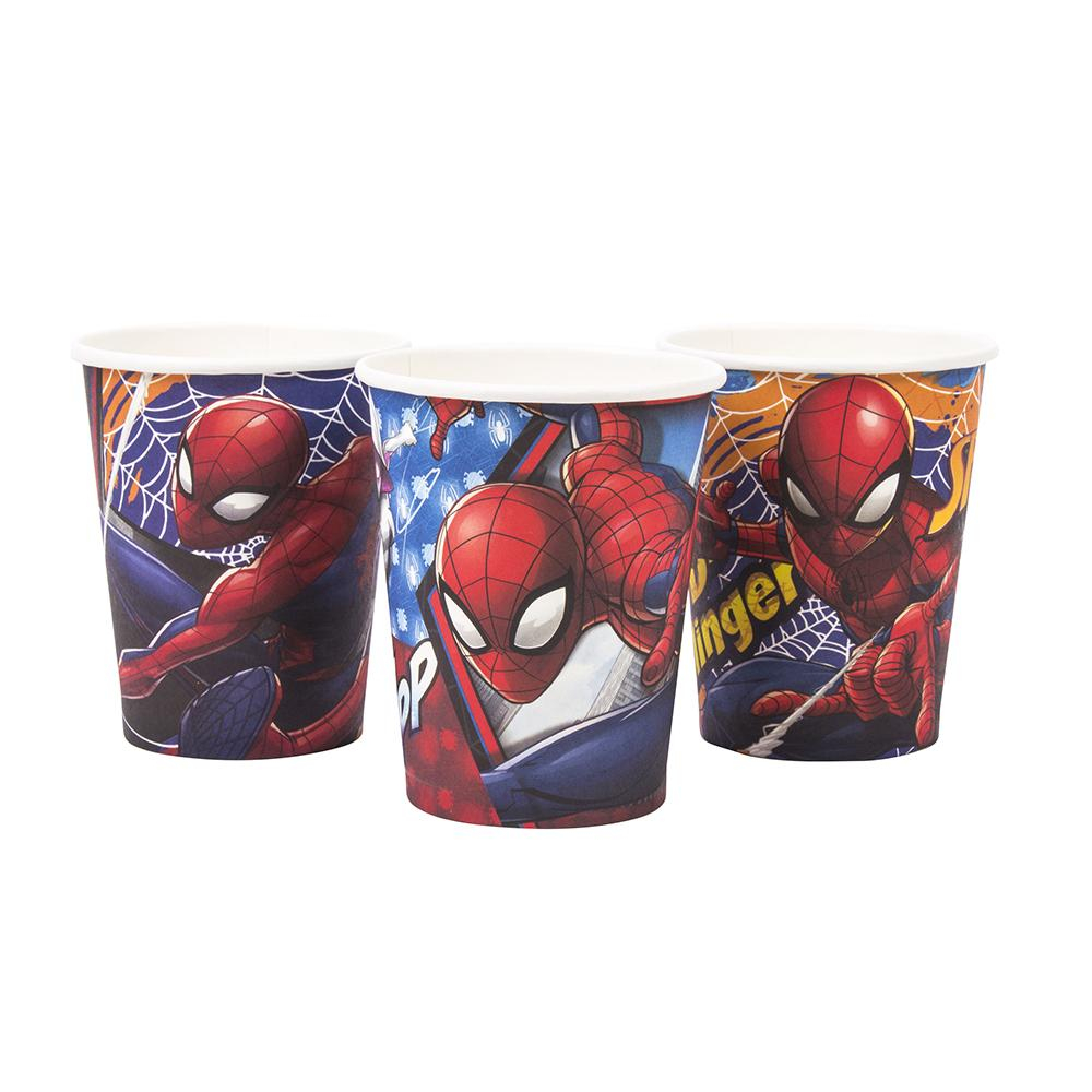 VASO SPIDERMAN   6 UNIDADES