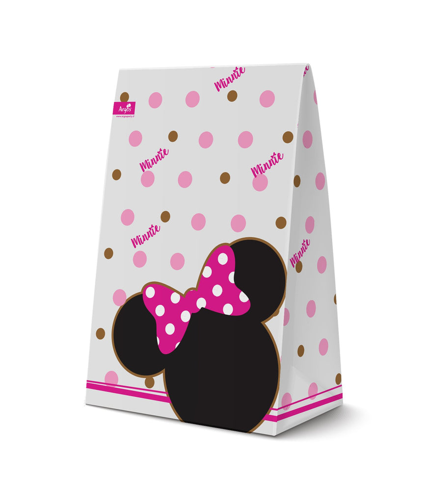 BOLSA PAPEL MINNIE ICONICO   6 UNIDADES
