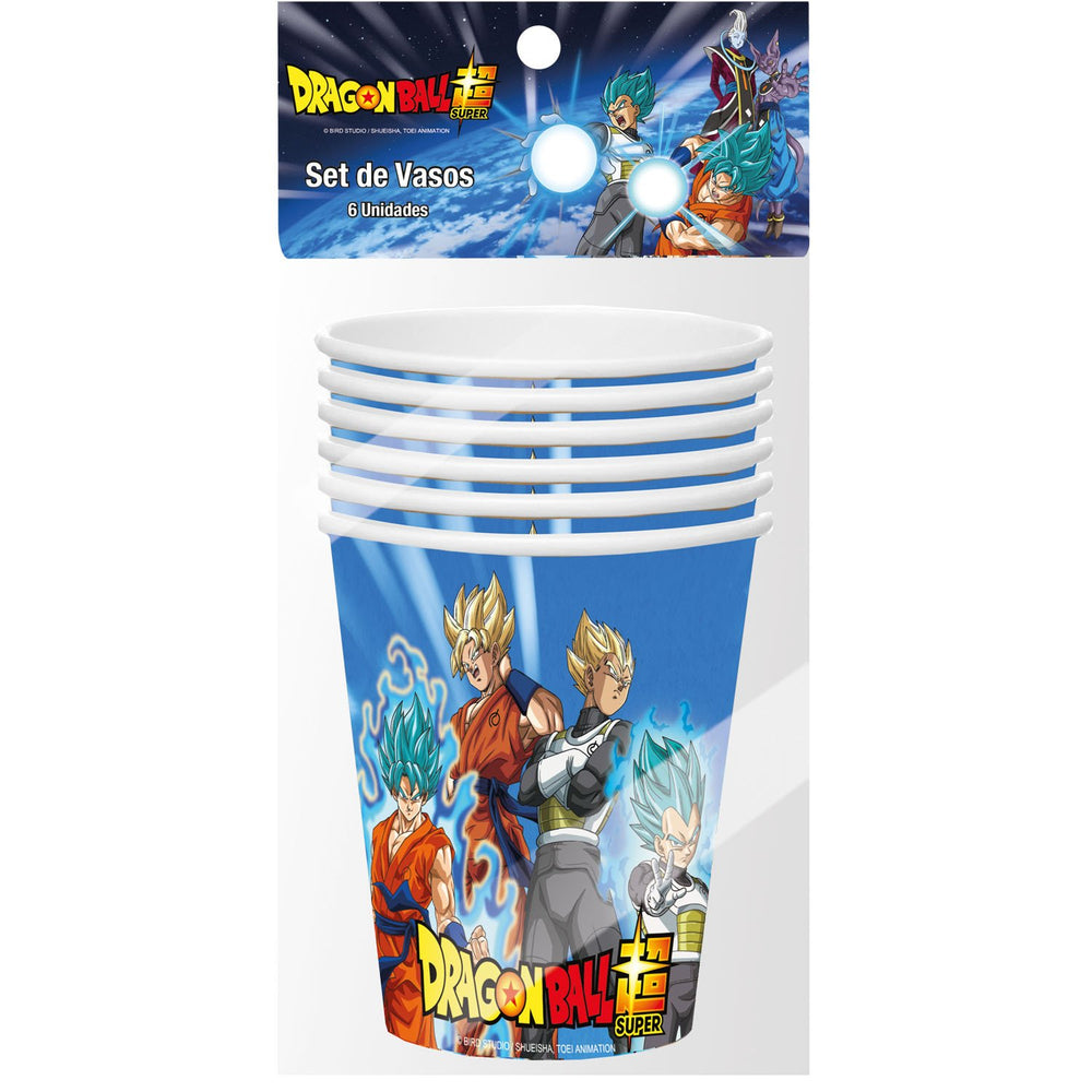 VASO DRAGON BALL   6 UNIDADES