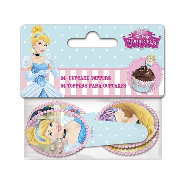 TOPPERS CUPCAKES PRINCESAS