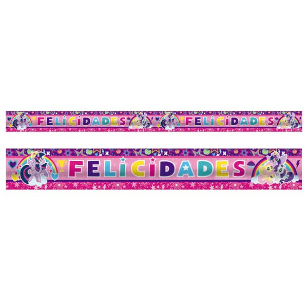 BANNER METALICO MY LITTLE PONY ARCOIRIS