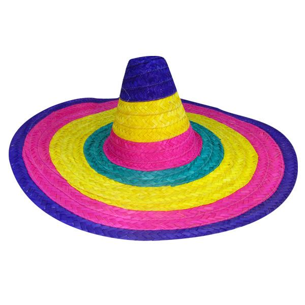 SOMBRERO MEXICANO PAJA MEDIA 55 CM