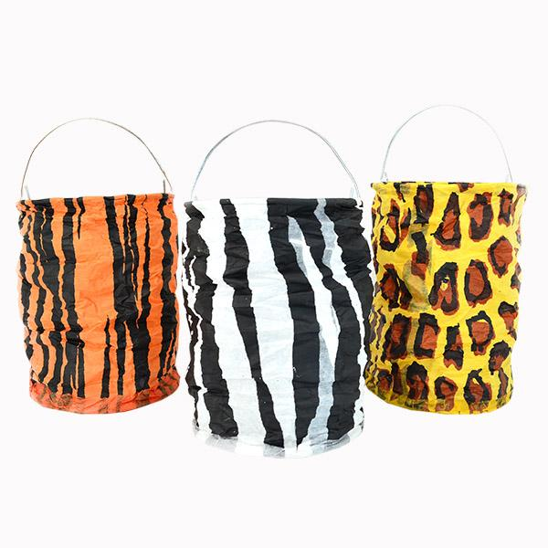 ADORNO LAMPARA TUBO ANIMAL PRINT 15CM
