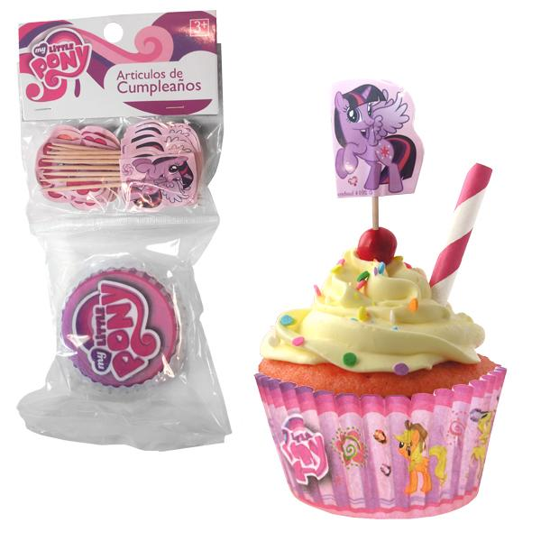 SET CUPCAKES Y PICKS MY LITTLE PONY LOGO