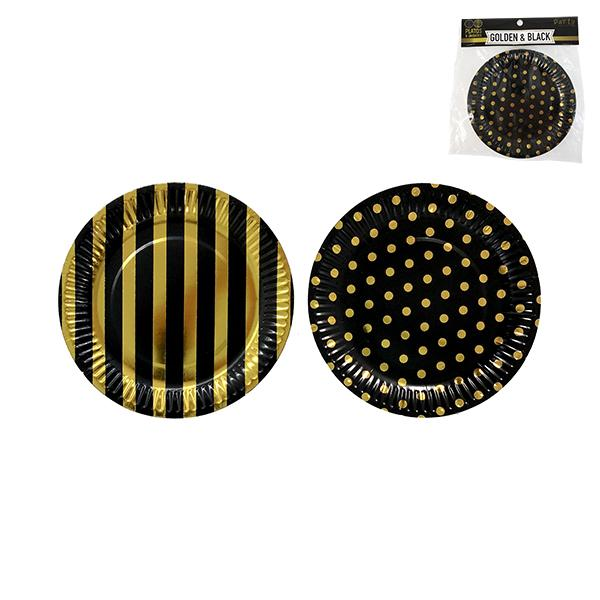 "PLATO GOLDEN BLACK 7""   6 UNIDADES"