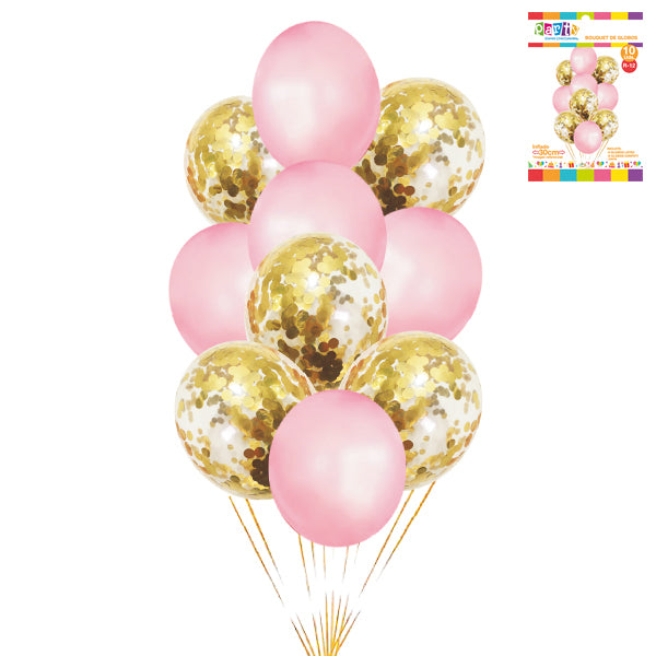SET BOUQUET DE GLOBOS ROSADO