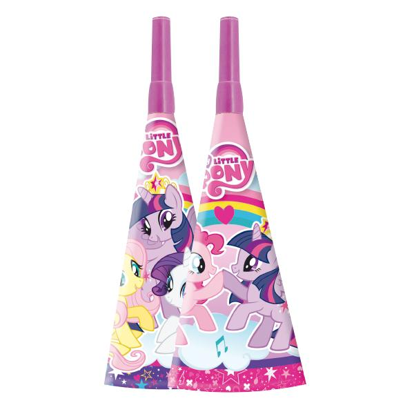 CORNETA MY LITTLE PONY ARCOIRIS   6 UNIDADES