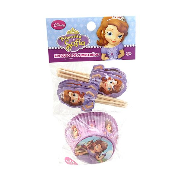 SET CUPCAKES Y PICKS PRINCESA SOFIA
