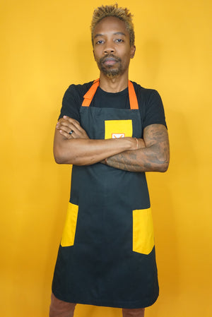 WHOLE GRAIN MUSTARD APRON - CHEF ED HARRIS