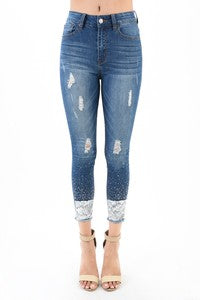 Hammer Jeans Distressed Hot Fix Sequin Detail