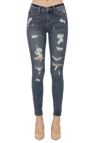 Judy Blue Distressed Dark Skinny