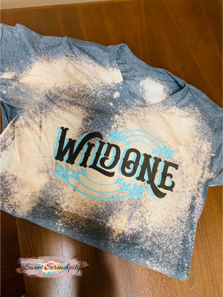 Wild One Bleached Tee - V Neck