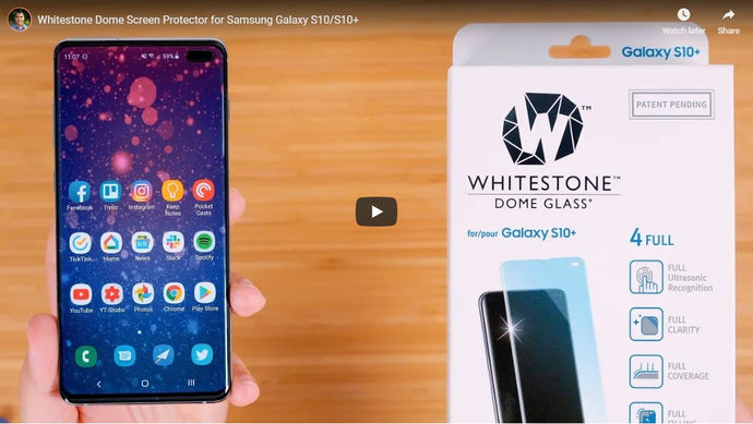 Whitestone Dome Screen Protector for Samsung Galaxy S10/S10+ by Dan Barbera