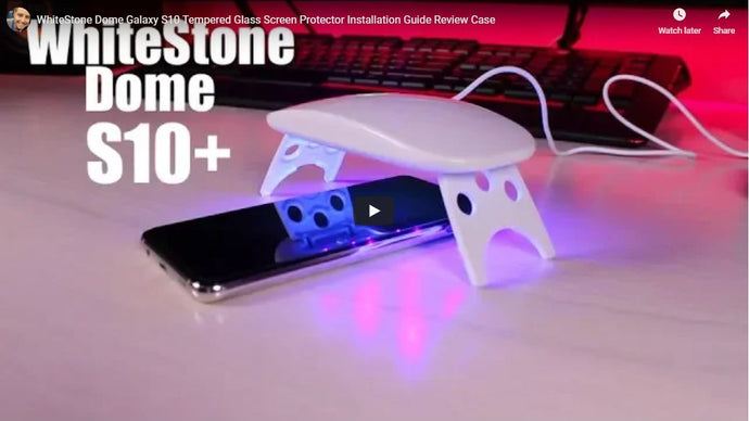 WhiteStone Dome Galaxy S10 Tempered Glass Screen Protector Installation Guide by Shane Starnes