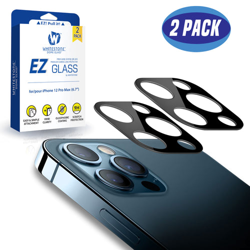Whitestone EZ iPhone 12 Pro Max Camera Screen Protector - 2 Pack (6.7