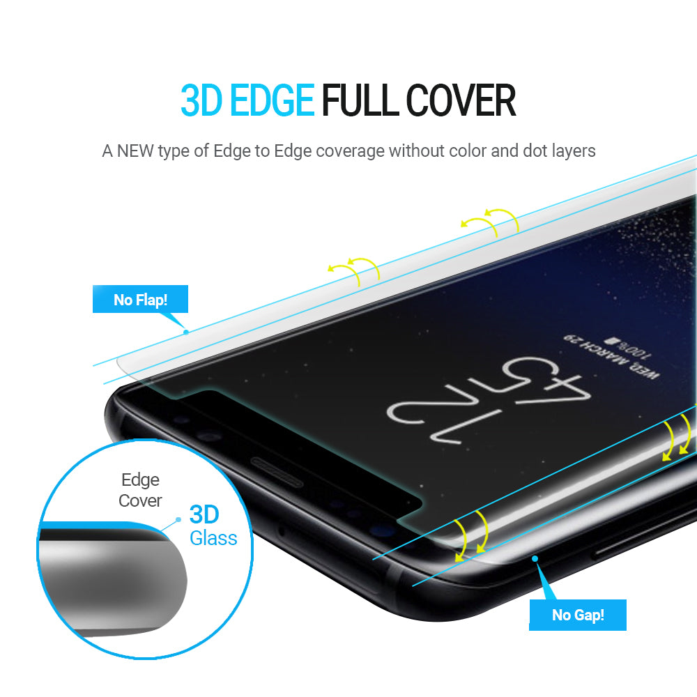 Galaxy S8 Plus Dome Glass Tempered Glass Screen Protector