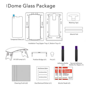 Galaxy S9 Plus Dome Glass Tempered Glass Screen Protector