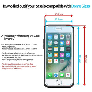 iPhone 7 / 8 Dome Glass Tempered Glass Screen Protector